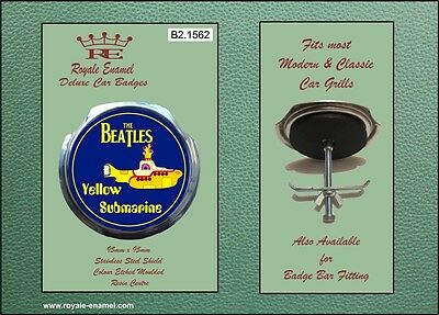 Royale Car Grill Badge & fittings - THE BEATLES YELLOW SUBMARINE - B2.1562