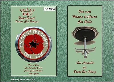 Royale Car Grill Badge & fittings - BATTLE OF THE SOMME ANNIVERSARY - B2.1564