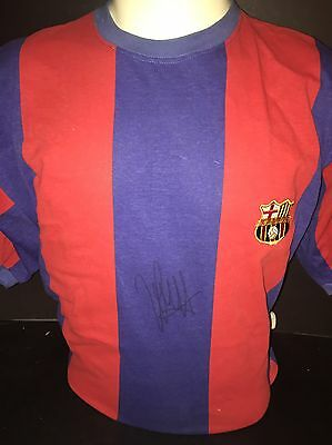 Signed Johan Cruyff Retro Barcelona Home Shirt