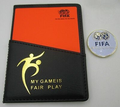 Excellence Quality FIFA FOOTBALL SOCCER Referee Cards & Flip Coin Disc