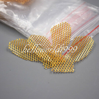 Gold 10 PCS Dental Stainless Metal Net Strengthen Impression Trays Lower Teeth