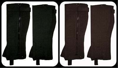 Horse Riding Half Chaps Equestrian / New Unisex / Washable Amara Suede Leather