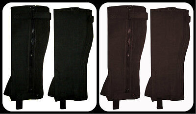 Horse Riding Half Chaps Gaiters Equestrian / New Unisex / Washable Amara Leather