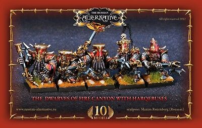 The Dwarves of Fire Canyon with Harquebuses Russian Alternative RESIN