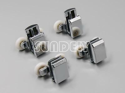 4 x Twin Zinc Alloy Shower Door Rollers/Runners/Wheels 23mm in Diameter