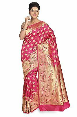 Bollywood EDH Kanchipuram Traditional Indian Designer Sari Silk Kanjivaram Saree