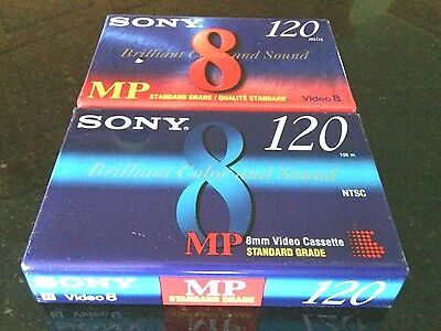 Sony MP 8 Camcorder Blank Video Cassette New 2 Brilliant Color & Sound Recording