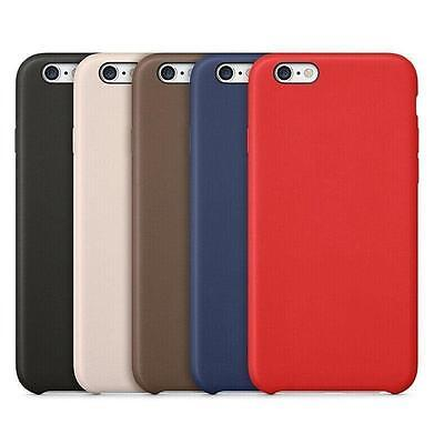 New Luxury Leather Back Ultra Thin Hard Case&Cover For iPhone 5 6 7 Plus SE
