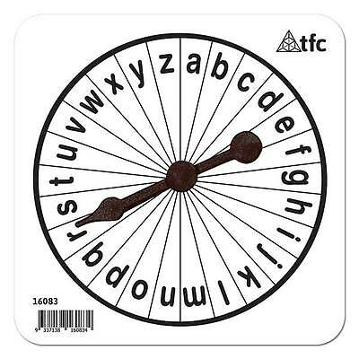 A-Z Lowercase Spinner - 3 piece Literacy Teacher Resource Learning Board Games