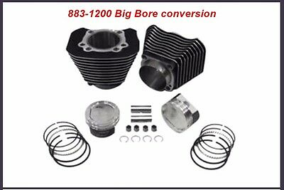 883-1200 Cylinder And Piston Big Bore Conversion Kit10:1 Harley Sportster 04 +