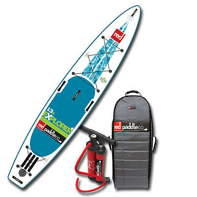 2017 Explorer Plus 13'2 Red Paddle CO Inflatable SUP Paddle Board w/Titan pump