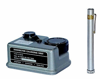Army Dosimeter & Charging Unit Set radiological pen charger radiation dose meter