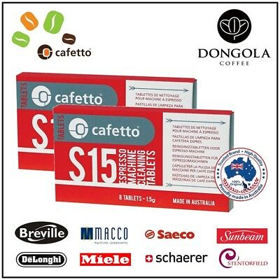 2PK S15 Espresso Coffee Machine Cleaning Tablets Super Automatic Cleaner Cafetto