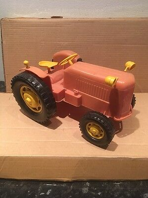Vintage 60s Plastic Large Tractor Tudor Rose Or Similar Made In England ?