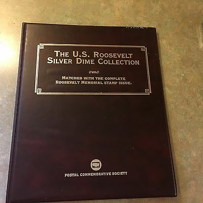 U.S. Roosevelt Silver Dime Collection w/ Memorial Stamps - Postal Commemorative