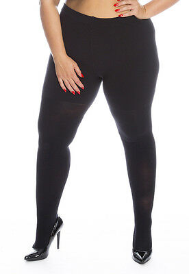 62:Thick Winter Tights for big, tall, curvy women - 180 denier in Red Navy Black