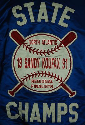 Vintage Hewitt 91 Sandy Koufax Dodgers Brooklyn Pitcher Varsity Baseball Jacket