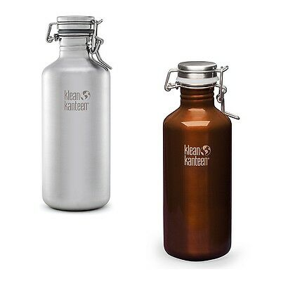 Klean Kanteen Growler flask 40/64oz - Swing Lok cap Stainless Steel bottle