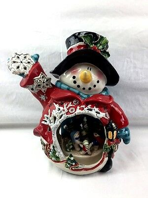 Circle Of Friends Snowman Candle Holder Heather Goldmine Large 864494