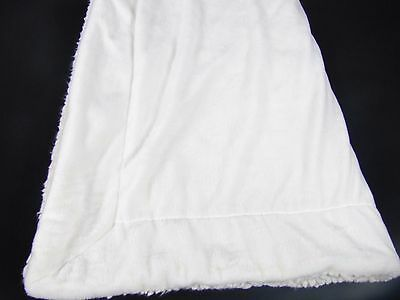 Little Miracles Baby Blanket Plush Fuzzy Sherpa White Cream Costco 30x45""