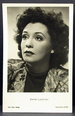 Zarah Leander - Actor Movie Photo - Foto Autogramm-Karte AK (Lot-I-8058