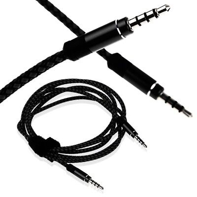 1m 3.5mm Mini Stereo Jack to Jack AUX Cable Braided Lead Audio Auxiliary PC Car