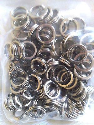 50 x 10mm STAINLESS STEEL SPLIT RINGS 304 MARINE GRADE QUALITY FISHING TACKLE
