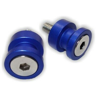 MOTORCYCLE RACE STAND KNOBS | LIFT PEGS | 10mm | M10 | ANODISED BLUE