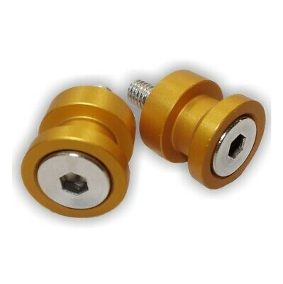 MOTORCYCLE RACE STAND KNOBS | LIFT PEGS | 10mm | M10 | ANODISED GOLD