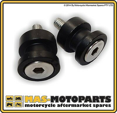 MOTORCYCLE RACE STAND KNOBS | LIFT PEGS | 10mm | M10 | ANODISED BLACK