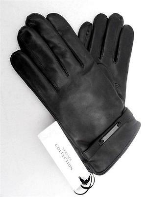 VERSACE Collection Leather Gloves SZ L