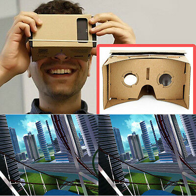 Clear Ulter DIY Cardboard 3D VR Virtual Reality Glasses For Smartphone #T
