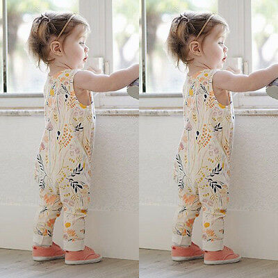 Infant Baby Girls Flower Lace Romper Bodysuit Sunsuit Jumpsuit Outfit Clothes