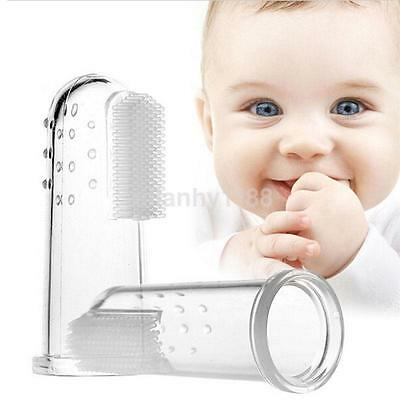 Silicone Soft Finger Toothbrush Teeth Clean Massage Brush For Baby Infant AU
