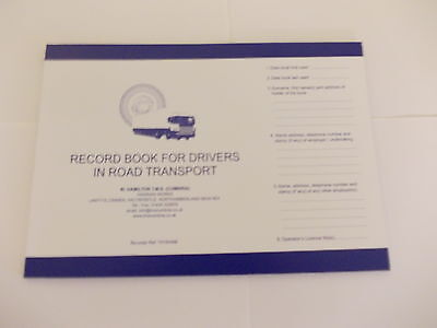 Drivers Daily Record Book, Tachograph Product, truck,wagon,bus. Log Book. (TS15)