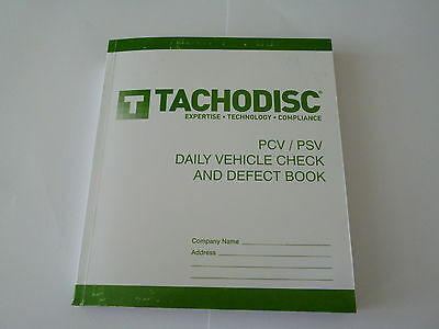 Daily Vehicle Check And Defect Book PSV,T20P,bus.Tachograph product. Tachodisc.