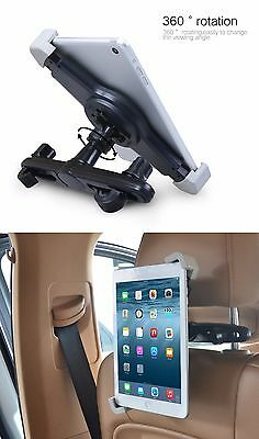 "Universal Car Seat Back Headrest Mount Holder For iPad and Tablets 7""-11""."