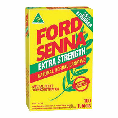 Ford Senna Extra Strength Natural Herbal Laxative 100 Tablets