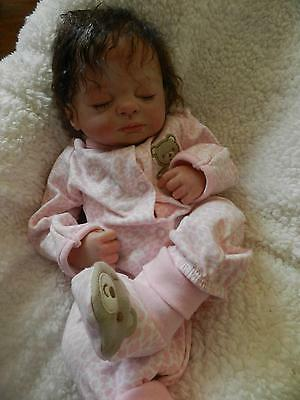 "17""Handmade Cute Life Like Real Neonatal Soft Vinyl Silicone Reborn baby doll"