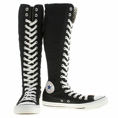Converse Women's Black & White All Star XX Hi Trainers size UK 3,4,5,6,7,8