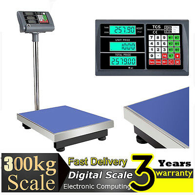 300kg Electronic Digital Platform Scale Postal Scales Weight Computing Shop Home