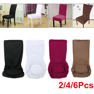 Quality Stretchable Removable Slipcover Spandex Lycra Dining Chair Seat Cover UK