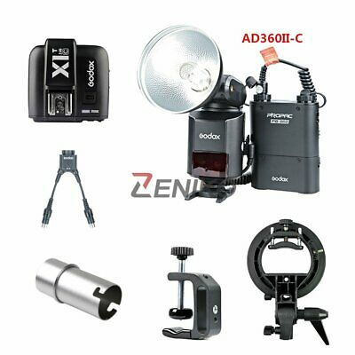 Godox AD360II-C TTL Flash & Battery + X1T-C + DB-02 Cable + Bracket + Cap + Clip