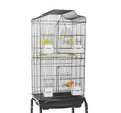 Liberta Lotus Budgie Canary Finch Cockatiel Black Bird Cage With C1 Stand …