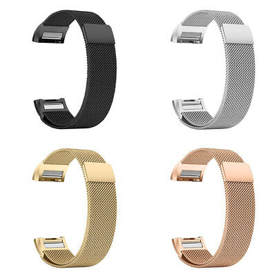 Milanese Mesh Stainless Steel Watch Band Magnetic Wrist Strap For Fitbit Charge2