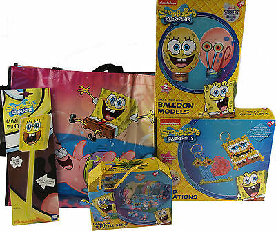 Spongebob Squarepants 5 Piece Craft Toys Christmas Set In Shopper Gift Bag