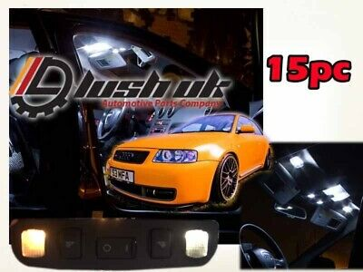 *Audi A3 S3 8L1 96-03 Full LED Interior Light Kit -Canbus Bright White Xenon 15p
