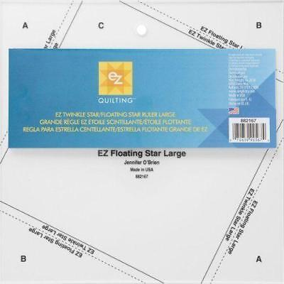 ez simply Twinkle/floating  star quilting ruler template large 8.5 inch