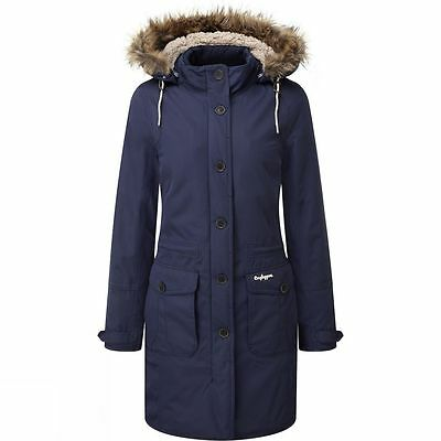 Craghoppers Womens Ladies Waterproof Cayley Winter Padded Parka in Soft Navy
