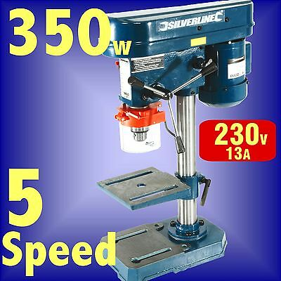 350w 5 Speed PILLAR DRILL press bench machine table rotary 3 Year Guarantee
